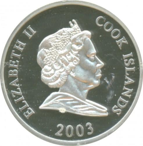 2 Dollar 2003 John F Kennedy Cook Islands Münzen Wert Ucoinnet