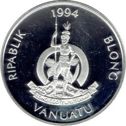 Moneta > 50vatu, 1994 - Vanuatu  (XXVI Giochi olimpici estivi, Atlanta 1996 - Nuoto) - obverse
