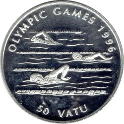 Moneta > 50vatu, 1994 - Vanuatu  (XXVI Giochi olimpici estivi, Atlanta 1996 - Nuoto) - reverse