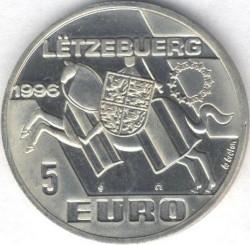 錢幣 > 5歐元, 1996 - 盧森堡  (Henri, Prince-Lieutenant of Luxembourg) - obverse