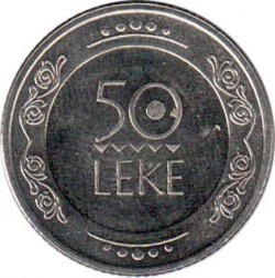 錢幣 > 50列克, 2004 - 阿爾巴尼亞  - obverse