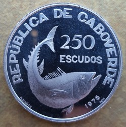 Moneta > 250scudi, 1976 - Capo Verde  (1° anniversario - Indipendenza) - obverse
