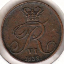 Moneta > ½rigsbankskilingo, 1838 - Danija  - obverse
