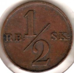 Moneta > ½rigsbankskilingo, 1838 - Danija  - reverse
