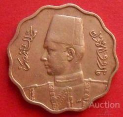 Монета > 10мілімів, 1938-1943 - Єгипет  - obverse