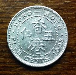 Монета > 5центов, 1903-1905 - Гонконг  - reverse
