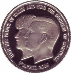 Moneta > 1korona, 2005 - Tristan da Cunha  (Ślub Księcia Karola i Kamili Parker Bowles) - obverse