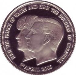 Moneta > 1korona, 2005 - Tristan da Cunha  (Ślub Księcia Karola i Kamili Parker Bowles) - reverse