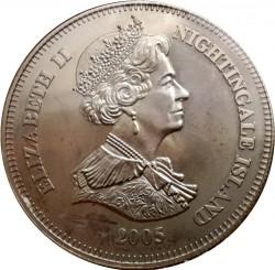 Moneta > 1korona, 2005 - Tristan da Cunha  (60 rocznica - Zwycięstwo w Europie /kotwica/) - obverse