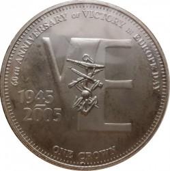 Moneta > 1korona, 2005 - Tristan da Cunha  (60 rocznica - Zwycięstwo w Europie /kotwica/) - reverse