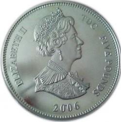 Moneda > 5libras, 2006 - Tristán de Acuña  (80th Anniversary - Birth of Queen Elizabeth II /Monogram/) - obverse