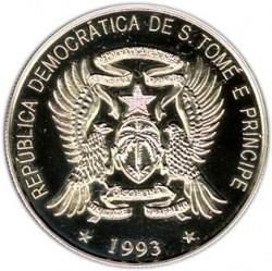 Moneta > 500dobras, 1993 - São Tomé e Príncipe  (15° anniversario - Trattato dell'Unione europea) - obverse