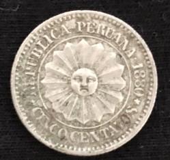 Moeda > 5centavos, 1879-1880 - Peru  - obverse
