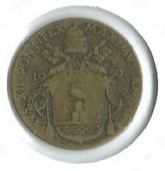Mynt > 5centesimi, 1939-1941 - Vatikanstaten  - reverse