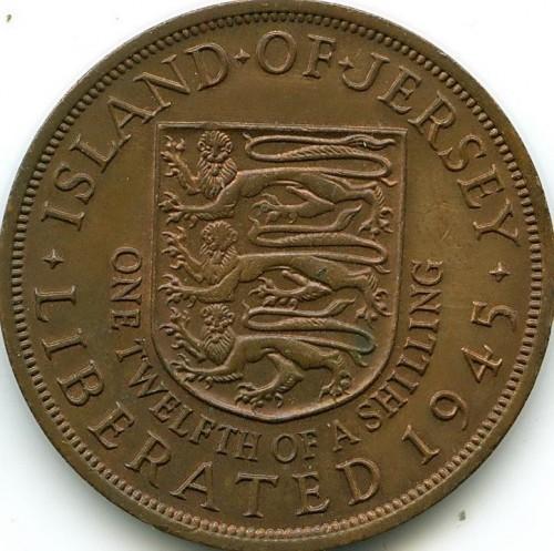 112 Schilling 1945 Queen Elizabeth Ii Jersey Münzen Wert