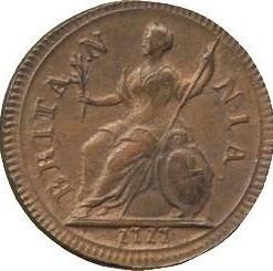 Кованица > 1фартинга, 1717 - Уједињено Краљевство  - reverse