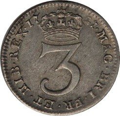 Moneda > 3peniques, 1717-1727 - Reino Unido  - reverse