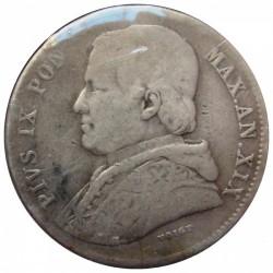 Moneta > 20baiocchi, 1858-1865 - Stato Pontificio  - reverse