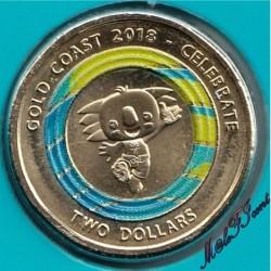 Moneta > 2dolary, 2018 - Australia  (XXI Igrzyska Wspólnoty Narodów 2018 - Borobi) - obverse