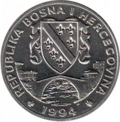 מטבע > 500דינר, 1994 - בוסניה והרצגובינה  (Preserve Planet Earth - River Kingfisher) - obverse