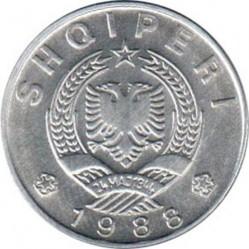 Moneda > 1lek, 1988 - Albània  (Alumini /color gris/) - obverse