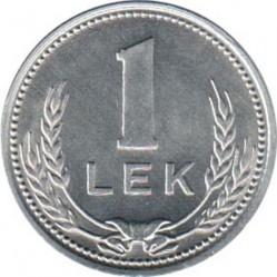 Moneda > 1lek, 1988 - Albània  (Alumini /color gris/) - reverse