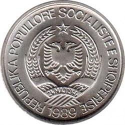 Munt > 2lekë, 1989 - Albanië  - obverse