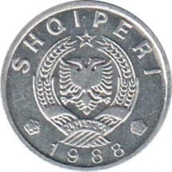 Coin > 5qindarka, 1988 - Albania  - obverse