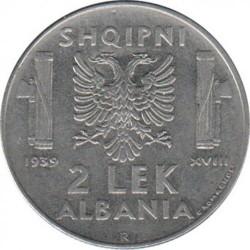 سکه > 2لکه, 1939 - آلبانی  (Non-magnetic) - reverse