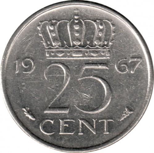 25 Cent 1967 Niederlande Münzen Wert Ucoinnet