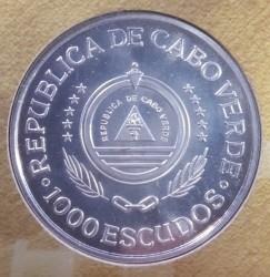 Moneta > 1000scudi, 1994 - Capo Verde  (500° anniversario - Trattato di Tordesillas ) - obverse
