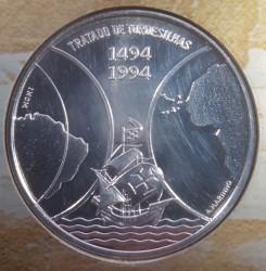 Moneta > 1000scudi, 1994 - Capo Verde  (500° anniversario - Trattato di Tordesillas ) - reverse
