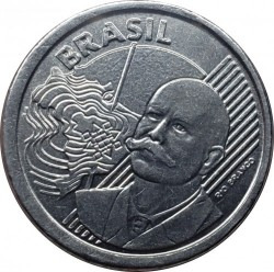 Minca > 50centavos, 2012 - Brazília  (Error Coinage - 5 Сentavo Denomination) - obverse