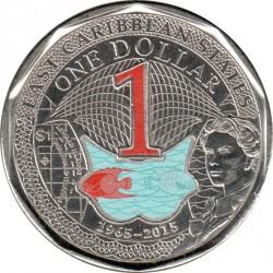 Moneta > 1dollaro, 2015 - Caraibi Orientali  (50° anniversario - Valuta dei Caraibi orientali) - reverse