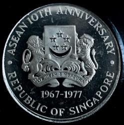 Moneta > 10dollari, 1977 - Singapore  (10° anniversario - ASEAN) - obverse
