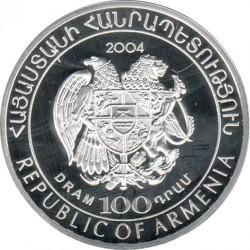 Moneda > 100dram, 2004 - Armenia  (Copa del Mundo de Fútbol - Alemania 2006) - obverse