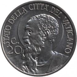 Moeda > 20centésimos, 1933 - Cidade do Vaticano  - reverse