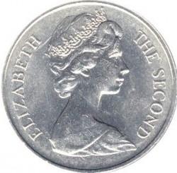 Moneta > 25pence, 1973 - Sant'Elena  (300° anniversario - Scoperta di Sant'Elena) - obverse