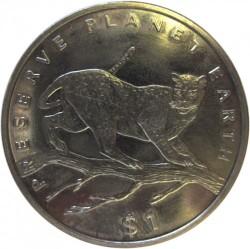 Moneta > 1dolar, 1995 - Liberia  (Ochrona Planety Ziemia - Leopard) - reverse