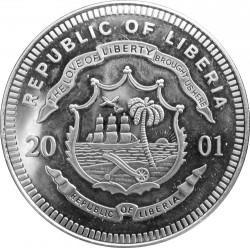 Монета > 5долара, 2001 - Либерия  (Legends of the Rails - Adler) - obverse