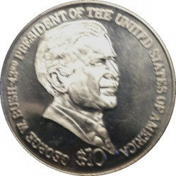 Coin > 10 dollars, 2001-2004 - Liberia  (43rd President of the USA - George W. Bush) - reverse