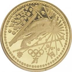 Monēta > 10000jenu, 1997 - Japāna  (XVIII winter Olympic Games, Nagano 1998 - Ski jumping) - obverse