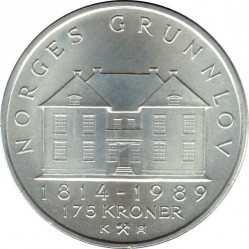 Монета > 175крон, 1989 - Норвегия  (175 лет Конституции) - reverse