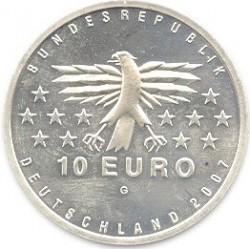 Moeda > 10euro, 2007 - Alemanha  (50th Anniversary of the return of Germany's Saarland) - obverse