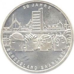 Moeda > 10euro, 2007 - Alemanha  (50th Anniversary of the return of Germany's Saarland) - reverse