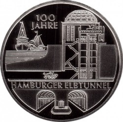 العملة > 10 يورو , 2011 - ألمانيا  (100th Anniversary of Hamburger Elbtunnel) - obverse