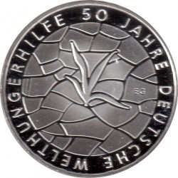 سکه > 10یورو, 2012 - آلمان  (50th Anniversary of German Welthungerhilfe) - obverse
