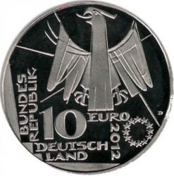 Moneda > 10euro, 2012 - Alemanya  (100è aniversari - Biblioteca Nacional d'Alemanya) - obverse