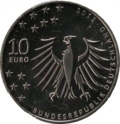 Moeda > 10euro, 2012 - Alemanha  (150 Anos do Nascimento do Romancista Gerhard Hauptmann) - obverse