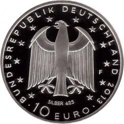Moeda > 10euro, 2013 - Alemanha  (Bicentenário do Nascimento do Escritor Georg Büchner) - obverse